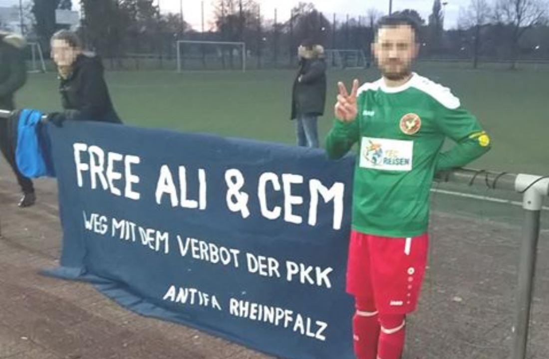 [Berlin] Transpi-Aktion heute beim Fussballspiel des FC Amed gegen Türkspor