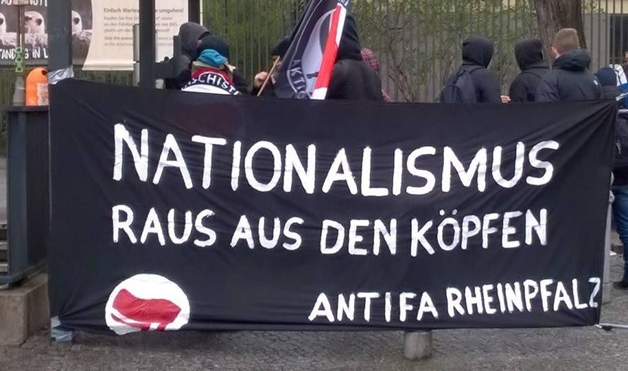 Antifaschistische Demo gegen den Landesparteitag der AfD Rheinland-Pfalz am 04.03. in Bingen