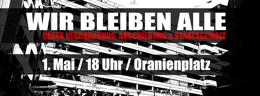 Auf die Barrikaden  – Hinein in den stadtpolitischen Block auf der revolutionären 1. Mai Demo in Berlin