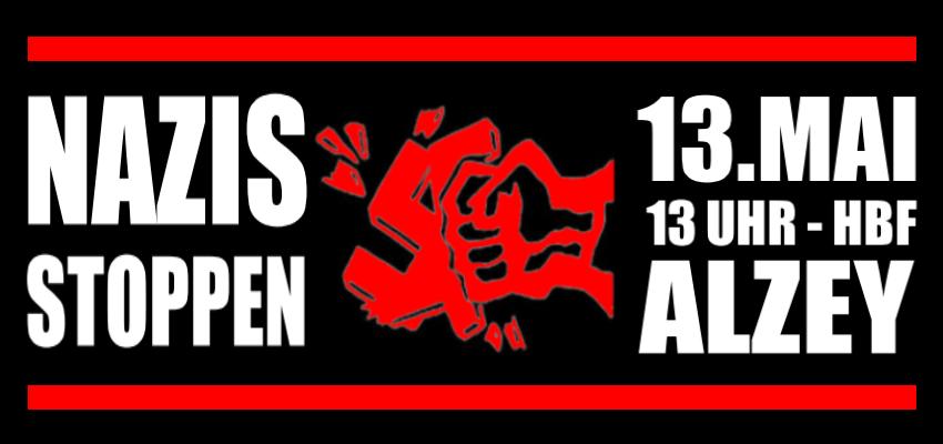Aktionen gegen den Naziaufmarsch am 13.05. in Alzey