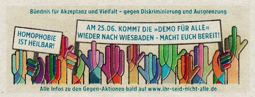 Demo für Vielfalt und gegen Ausgrenzung am Sonntag in Wiesbaden