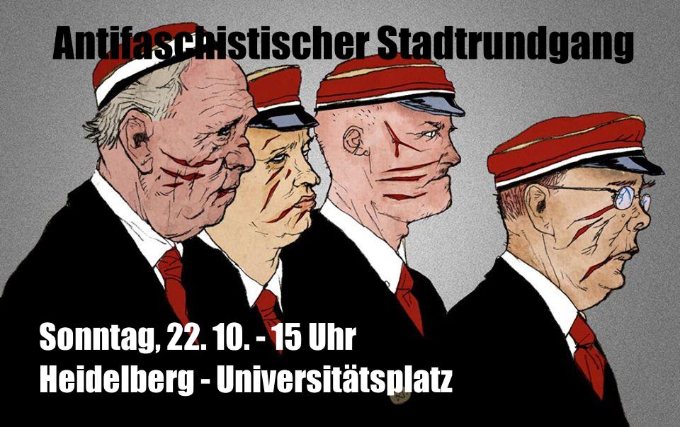 Stadtrundgang zu Schauplätzen in der Geschichte der Heidelberger Studentenverbindungen