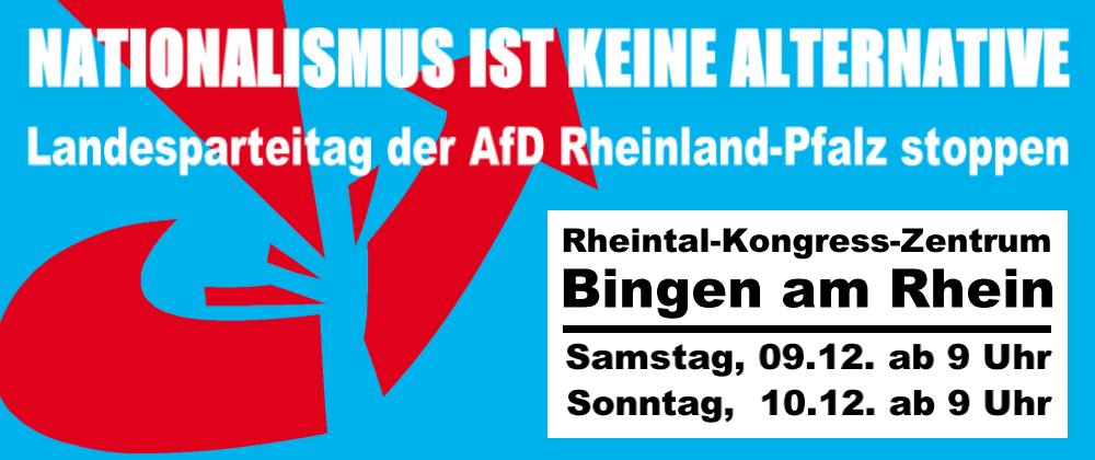 Antirassistische Gruppen rufen zu Protesten gegen den Landesparteitag der AfD Rheinland-Pfalz auf