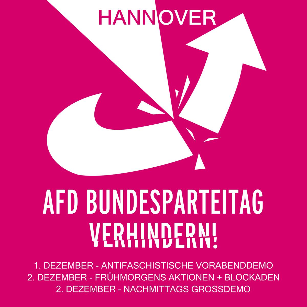 AfD Bundesparteitag am 02.12. in Hannover verhindern