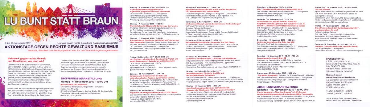 Aktionstage gegen rechte Gewalt und Rassismus in Ludwigshafen und der Vorderpfalz