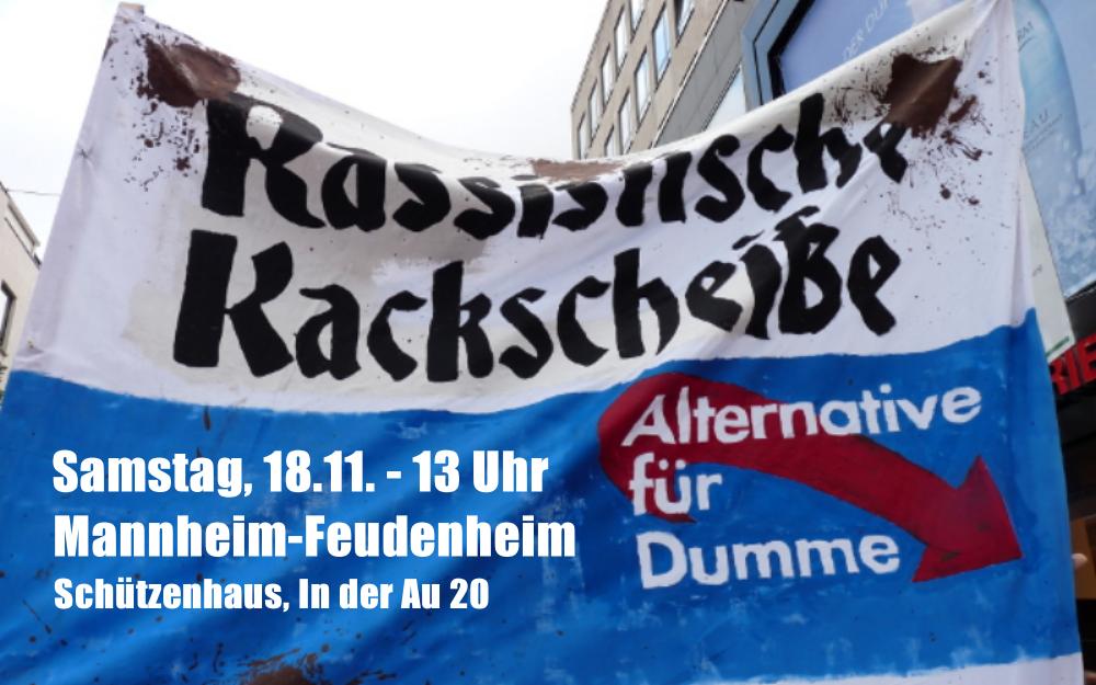 Deutschland-den-Deutschen-Poggenburg am 18.11. im Schützenhaus Mannheim