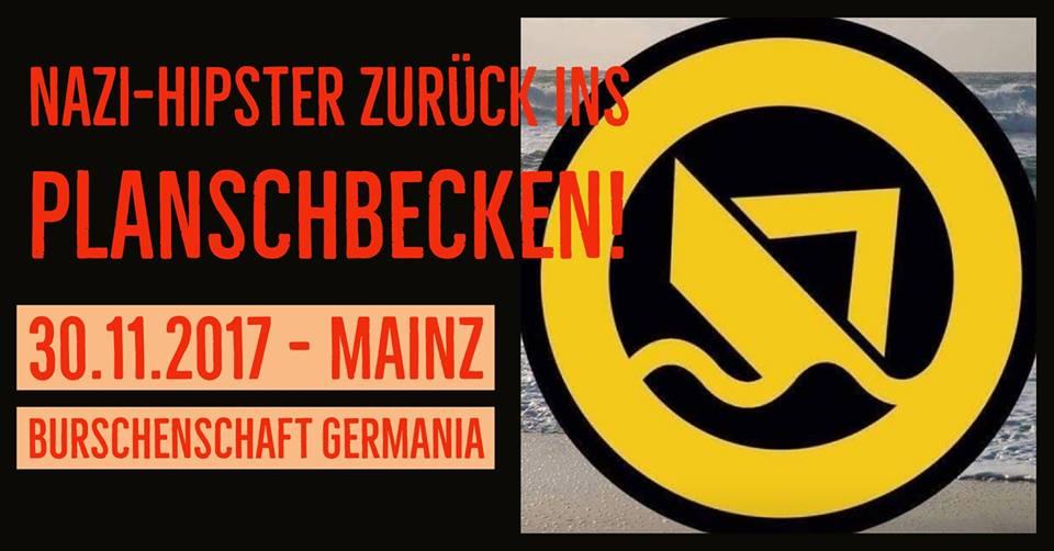Nazi-Hipster und IB-Führer Martin Sellner am 30.11. zu Gast bei der Burschenschaft in Mainz