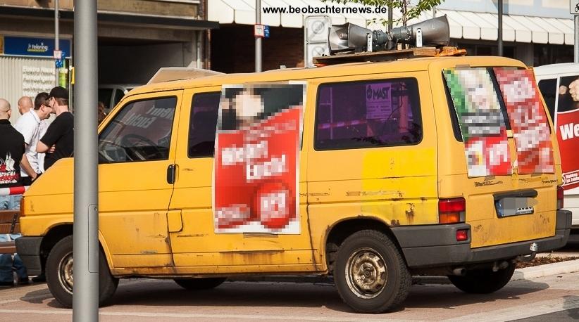 Gelber Nazi-Bus der NPD morgen in Speyer