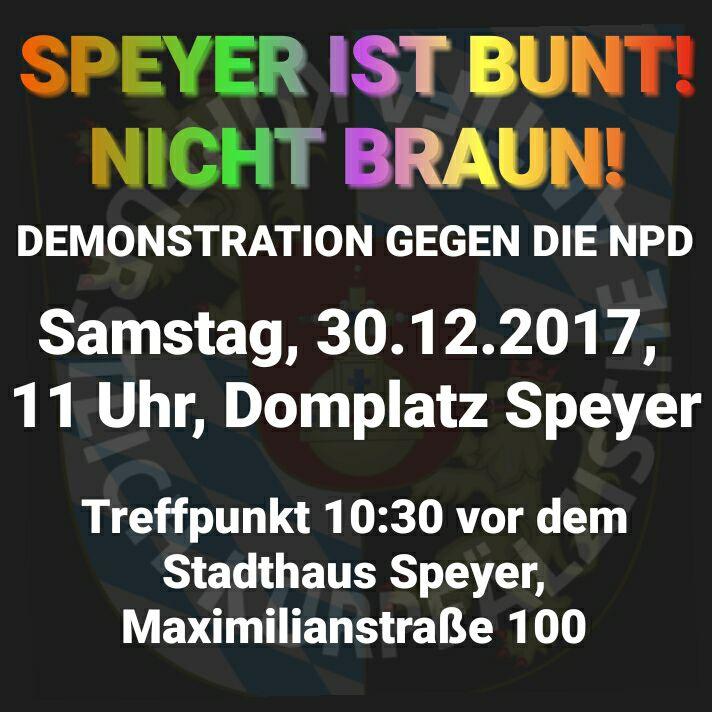 NPD-Aufmarsch für den Erhalt der Hitler-Glocken am 30.12. in Speyer.
