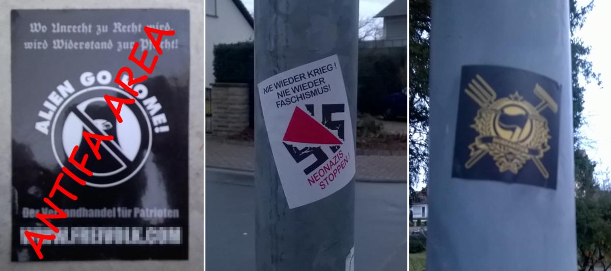 Nazis gibts in jedem Kaff – Nazisticker in Deidesheim entfernt