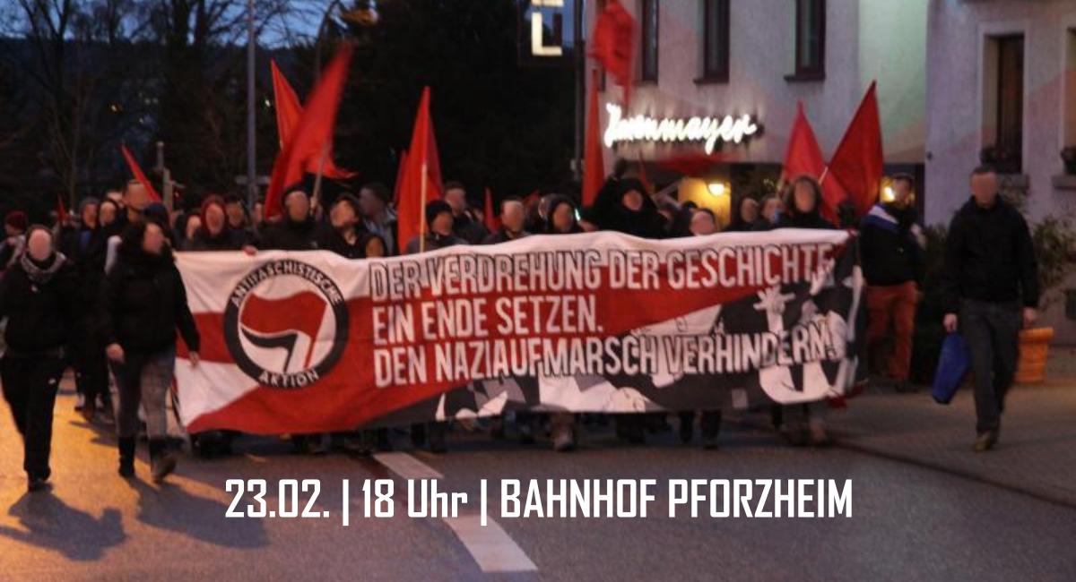 Nicht lange fackeln – Nazimahnwache am 23.02. in Pforzheim verhindern