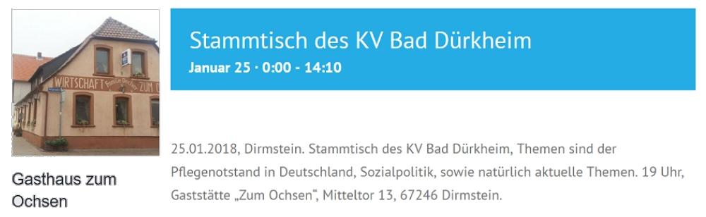 Nazis gibts in jedem Kaff – AfD-Stammtisch in Dirmstein
