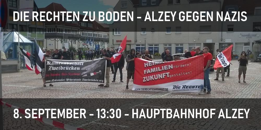 Die Rechten zu Boden – Alzey gegen Nazis am 8. September