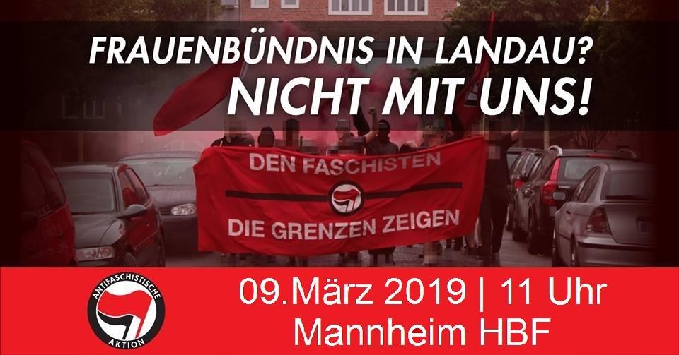 Rechts Frauenbündnis Kandel marschiert am 9. März durch Landau