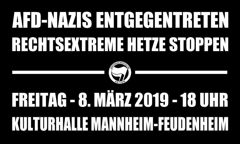 Frauenfeindliche AfD-Veranstaltung am 8. März in Mannheim-Feudenheim
